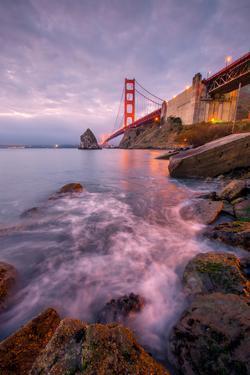 Blustery Golden Gate Bridge From Fort Baker