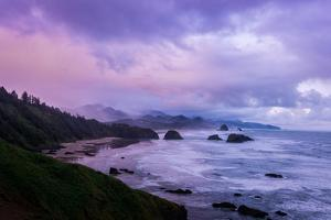 Blustery Morning Mood at Cannon Beach, Oregon Coast