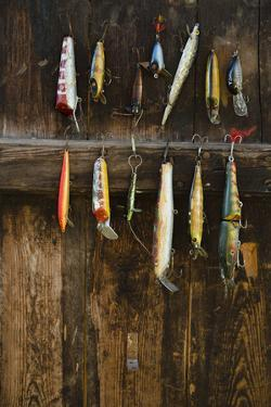 Fishing Lure Hanging on Wall, Sandham, Sweden by BMJ