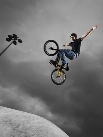 BMX Biker Performing Tricks