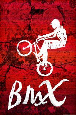 BMX Biking Sketch Sports Plastic Sign