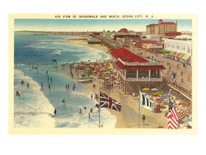 Boardwalk and Beach, Ocean City, New Jersey