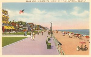 Boardwalk and Beach, Virginia Beach, Virginia
