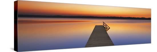 Boardwalk, Bavaria, Germany-Frank Krahmer-Stretched Canvas Print