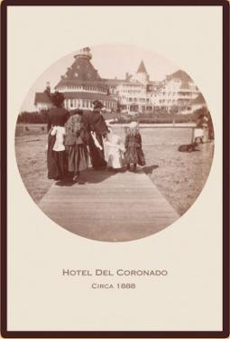 Boardwalk, Hotel del Coronado, San Diego, California