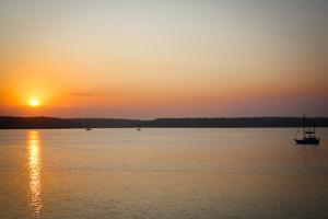 Boat at Sunset in East Hampton NY Photo Poster