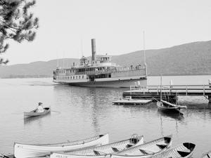 Boat House at Rogers Slide, Lake George, N.Y.