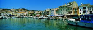 Boats Docked at a Harbor, Cassis, Provence-Alpes-Cote D'Azur, France