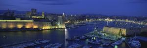 Boats Docked at a Port, Old Port, Marseille, Bouches-Du-Rhone, Provence-Alpes-Cote Daze, France