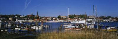Boats Docked at the Harbor, Flensburg Harbor, Munsterland, Germany