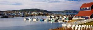 Boats in a Harbor, Bonavista Harbour, Newfoundland, Newfoundland and Labrador, Canada