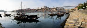 Boats in a River, Dom Luis I Bridge, Duoro River, Porto, Portugal