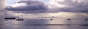 Boats in an Ocean, Playa Hermosa, Costa Rica