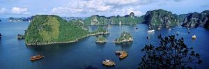 Boats in Halong Bay, Gulf of Tonkin, Vietnam