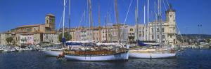 Boats Moored at a Harbor, La Ciotat, Bouches-Du-Rhone, Provence-Alpes-Cote D'Azur, France