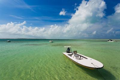 Boats on beach, Dunmore Town, Harbour Island, Eleuthera Island, Bahamas
