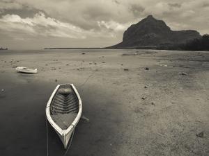 Boats on the Beach, Le Morne Brabant, Mauritius