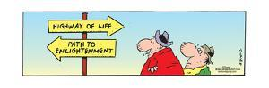 Frank & Ernest - Highway of Life.  Path to Enlightenment. by Bob and Tom Thaves