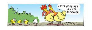 Frank & Ernest - Let's hope he's a late bloomer. by Bob and Tom Thaves
