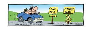 Frank & Ernest - One Way. Other Ways. by Bob and Tom Thaves