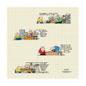Frank & Ernest - Work life. by Bob and Tom Thaves