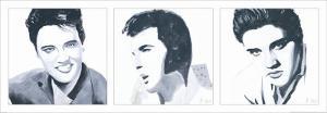 Elvis Triptych by Bob Celic