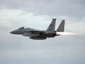 Gulf War 1991 USA Air Force Planes F15 Fighter by Bob Daugherty