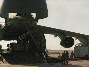 Saudi Arabia Army U.S. C-5 Galaxy Cargo Plane by Bob Daugherty
