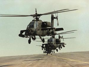 Saudi Arabia Army U.S. Forces Apache Assault Helicopters Kuwait Crisis by Bob Daugherty
