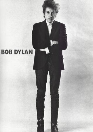 Bob Dylan Black and White Music Poster