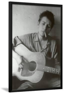 Bob Dylan Cigarette and Guitar Music Poster Print