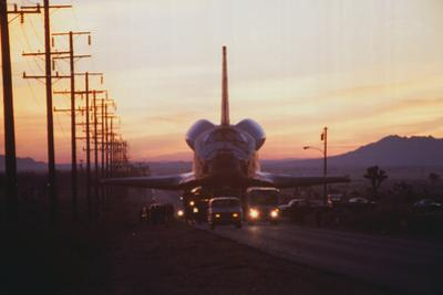 Trucks Towing the Shuttle Columbia