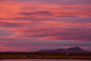 Clouds at sunset over wetland habitat, Whitewater Draw Wildlife Area, Arizona, USA by Bob Gibbons