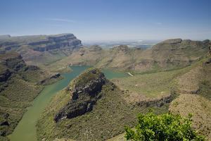 View of river canyon, Blyde River Canyon, Greater Drakensberg, Mpumalanga by Bob Gibbons