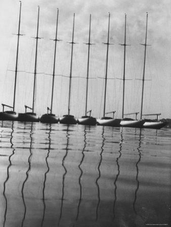 International One Design Class Boats at Long Island Sound Marina