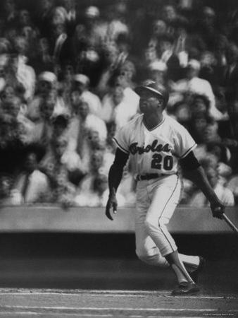 Orioles Player Frank Robinson, During Game Against the Dodgers in the World Series
