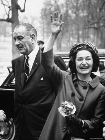 President Lyndon B. Johnson with Ladybird, on Her 3 Day Tour of Schools in the Appalachia