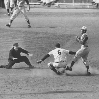 View of the First Game in of the 1961 World Series Between the Reds and the Yankees