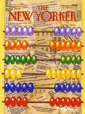 The New Yorker Cover - April 17, 1989 by Bob Knox