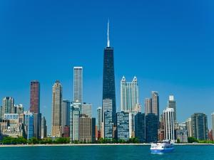 Chicago skyline by Bob Krist