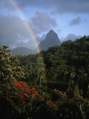 Rainbow near Petit Piton