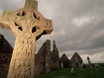Stone Cross at Monastic Center by Bob Krist