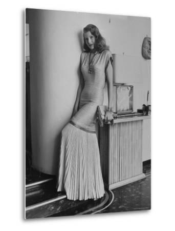 """Actress Rita Hayworth Posing in Wardrobe Columbia Pictures Bought Her for the Movie """"Gilda"""" by Bob Landry"""