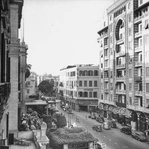City Street from Room at Shepherd's Hotel by Bob Landry