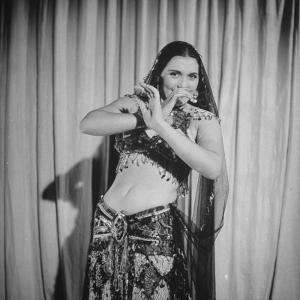 Egyptian Dance and Film Star Tahia Carioca Doing Belly Dance by Bob Landry