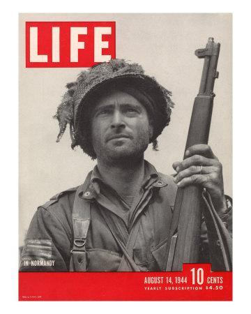 Lieutenant Kelso C. Horne of US Airborne Infantry, Part of Invasion at Normandy, August 14, 1944