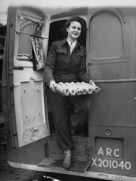 Member of Red Cross Clubmobile Katherine Spaatz, Dispensing Doughnuts, Coffee, Cigarettes and Gum by Bob Landry