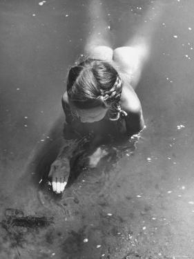 """Poet Paul Engle's Daughter Playing in the River For Her Father's Book, """"The American Child"""" by Bob Landry"""