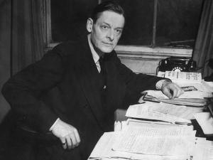 Writer T. S. Eliot Working at His Desk by Bob Landry