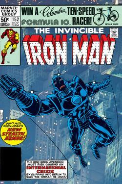 The Invinvible Iron Man No.152 Cover: Iron Man by Bob Layton
